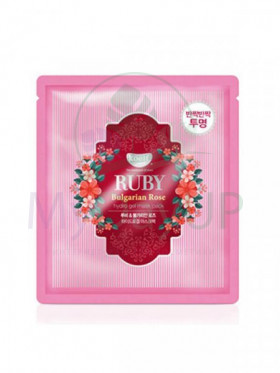 KOELF Ruby & Bulgarian Rose Hydro Gel Mask Pack Гидрогелевая маска для лица с рубиновой пудрой и болгарской розой, 30g