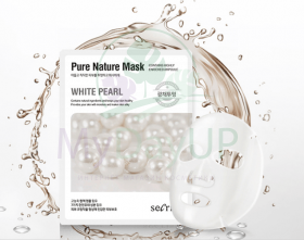 ANSKIN Secriss Маска для лица тканевая Secriss Pure Nature Mask Pack- White pearl 25 мл