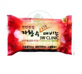 3W CLINIC Мыло кусковое РОЗА Rose Hip Beauty Soap, 120 гр