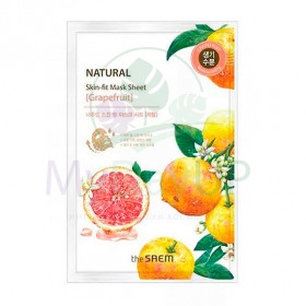 THE SAEM SF грейпфрут Natural Skin Fit Mask Sheet [Grapefruit] Маска тканевая  20ml