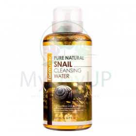 FarmStay Pure Natural Snail Cleansing Water Очищающая вода с муцином улитки, 500ml