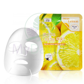 Тканевая маска для лица ЛИМОН 3W CLINIC Fresh Lemon Mask Sheet