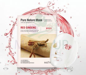 ANSKIN Secriss Маска для лица тканевая Secriss Pure Nature Mask Pack- Red ginseng 25 мл